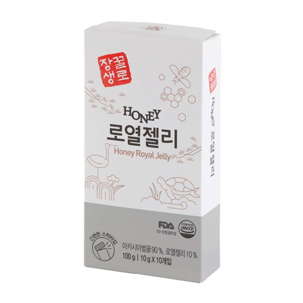 꽃샘식품 꿀로장생 짜먹는 간편한 허니스틱 로열젤리 (10gx10개)*3ea