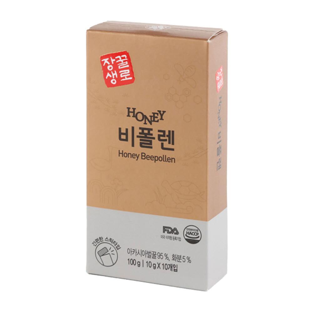 꽃샘식품 꿀로장생 짜먹는 간편한 허니스틱 비폴렌 (10gx10개)*3ea