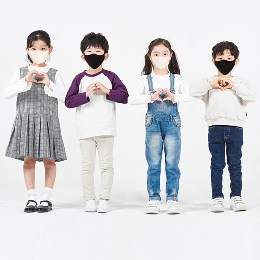 들꽃잠 (어린이용)인견 다이마루 필터 입체마스크(5개)