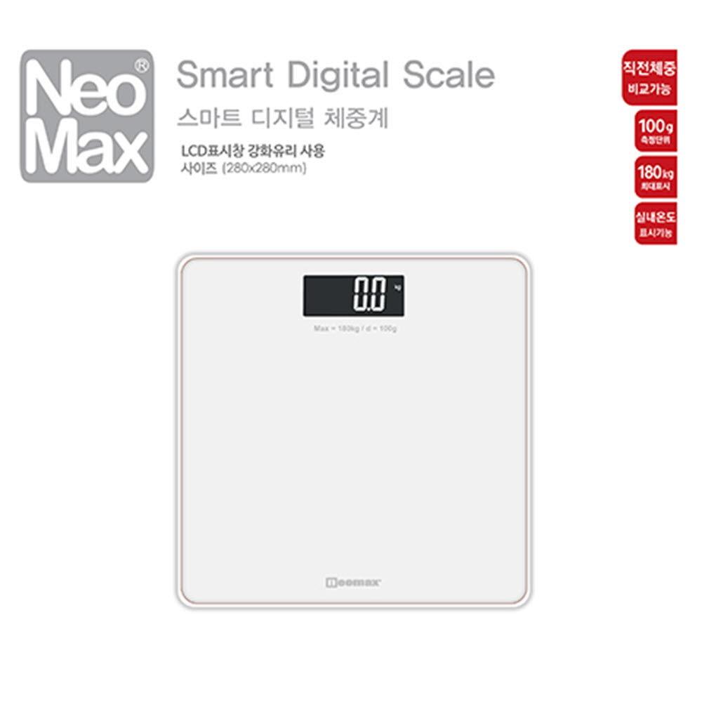 네오맥스 스마트 디지털 체중계(화이트)
