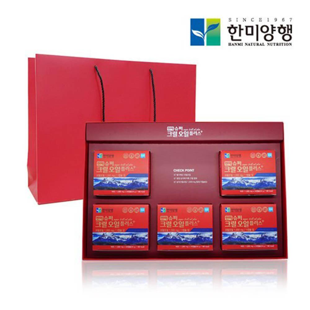한미양행 슈퍼 크릴오일 플러스+ 1000mg*120캡슐(4개월분)+쇼핑백