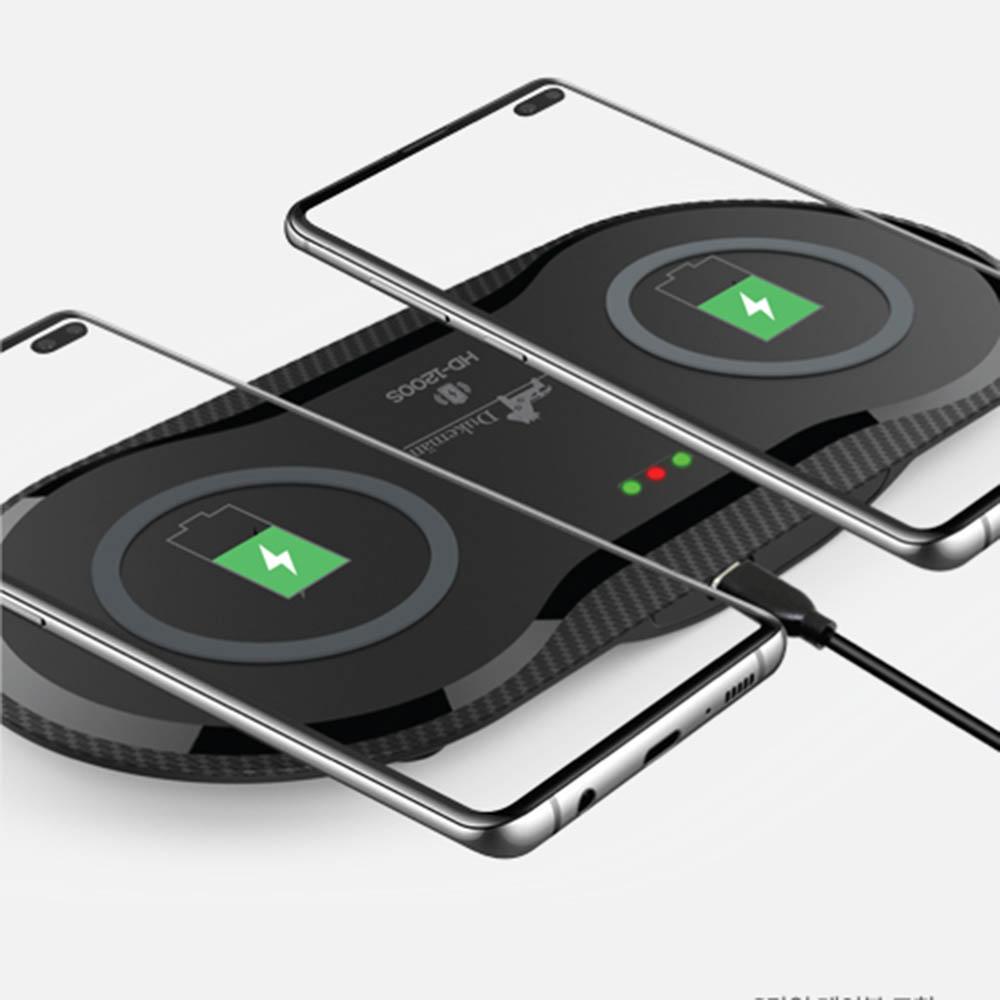 듀크만 듀얼 무선 고속 충전기 HD-1200S