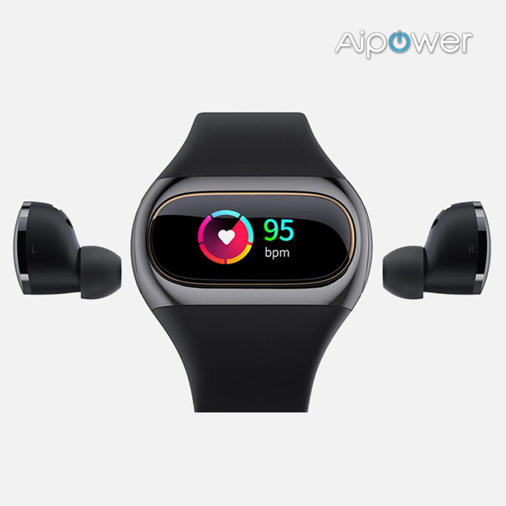 AiPower W20 웨어버즈 스마트워치 블루투스 이어폰 AI-W20