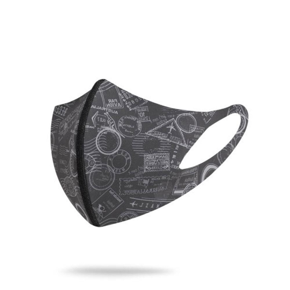 카르마스크 기능성원단 양면형 패션 연예인 마스크 3D 입체 항균 자외선차단 캐주얼 스탬프