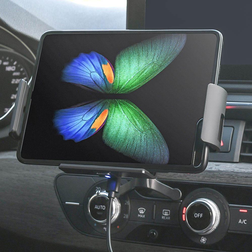 스마텍 태블릿 / 폴드 전용 휴대폰 무선충전 자동 거치대 ST-S1