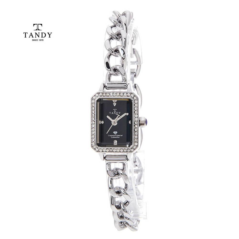 탠디 다이아몬드 원터치 셀프밴드 팔찌시계 T-4035 BK