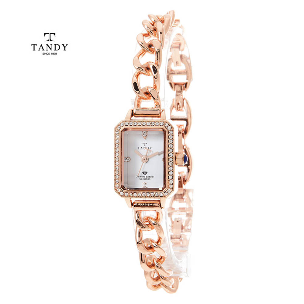 탠디다이아몬드 원터치 셀프밴드 팔찌시계 T-4035 RG