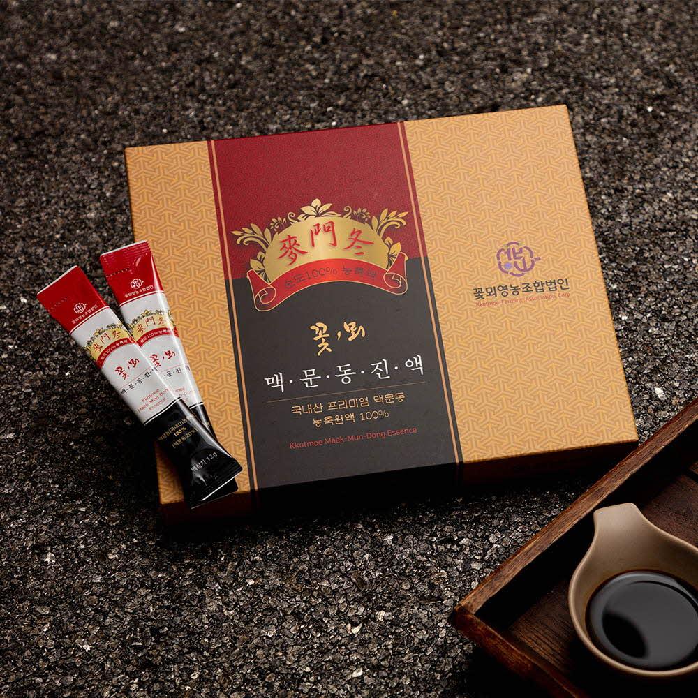꽃뫼맥문동진액 선물세트 360g (12gx10개x3 box)