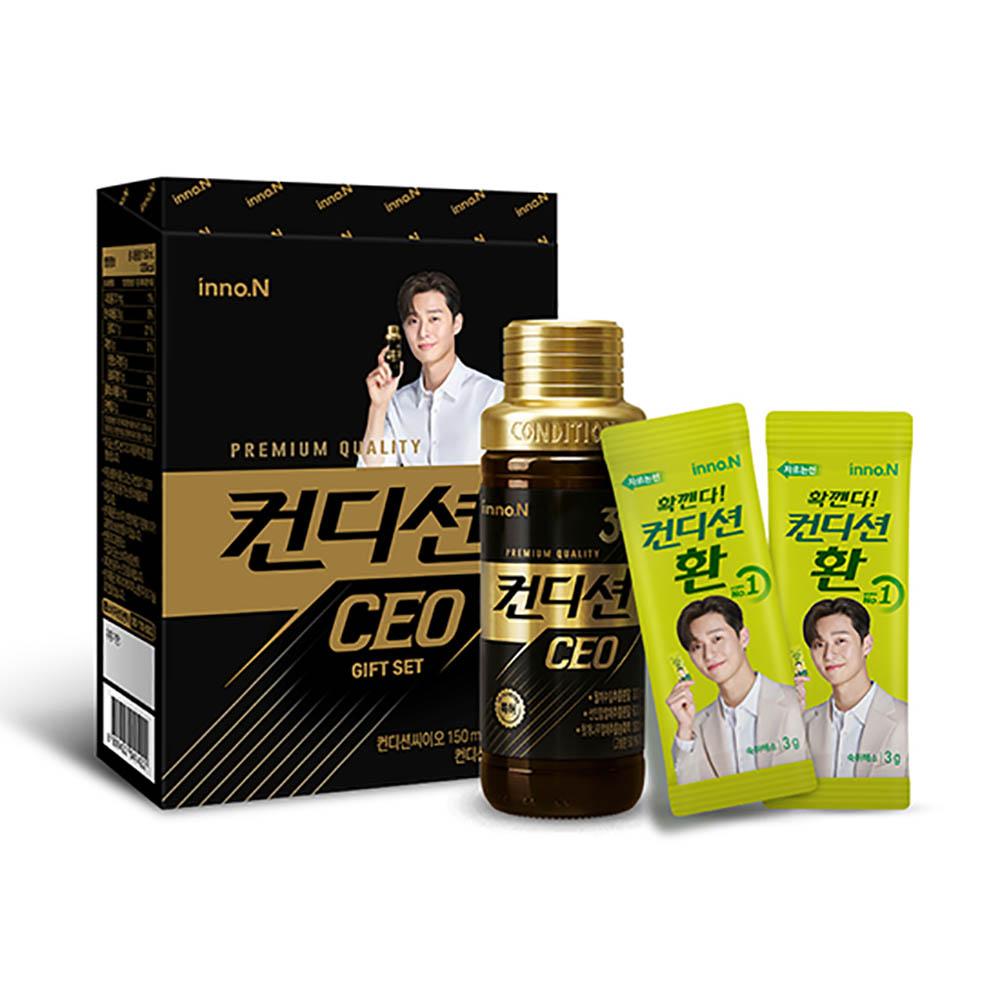 CJ헬스케어 프리미엄 컨디션CEO 1병+환 2포 선물세트(기프트박스)