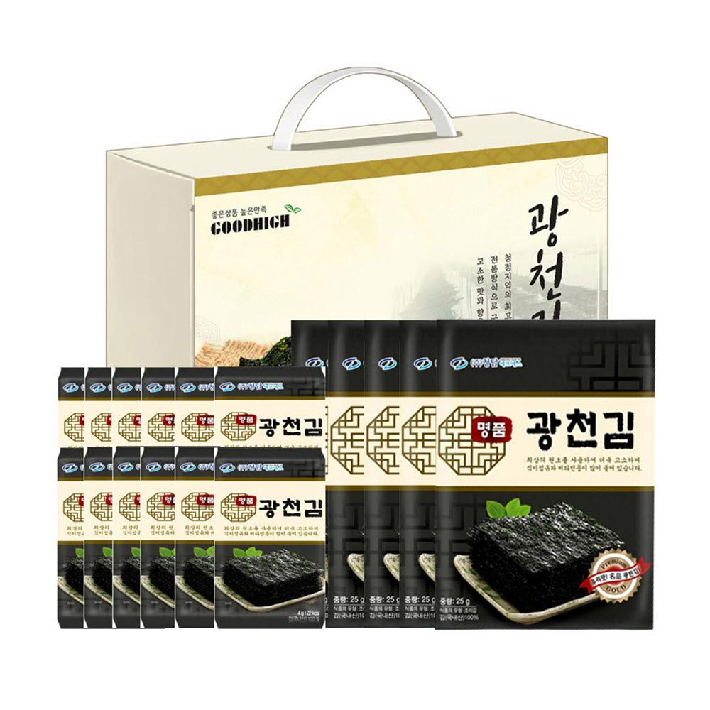 GOODHIGH 명품 광천김 혼합세트 1호 (재래전장김 25g X 5봉 / 재래도시락김 4g X 12봉)