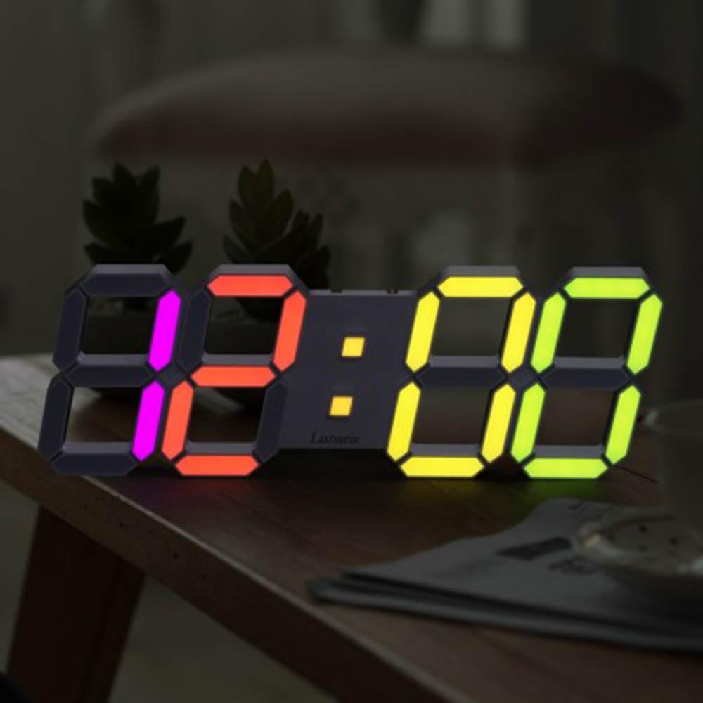 국산 루나리스 3D LED 인테리어 벽시계 LG전구 38cm 레인보우