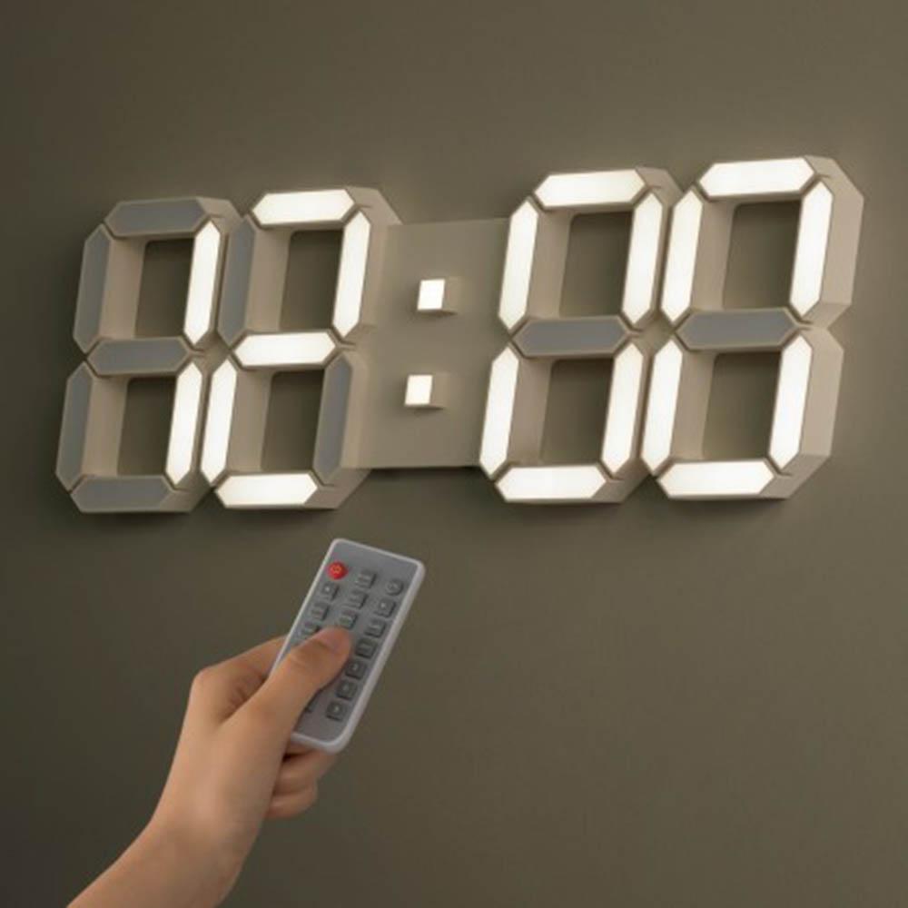 국산 플라이토 3D LED 인테리어 벽시계 LG전구 38cm_크림화이트