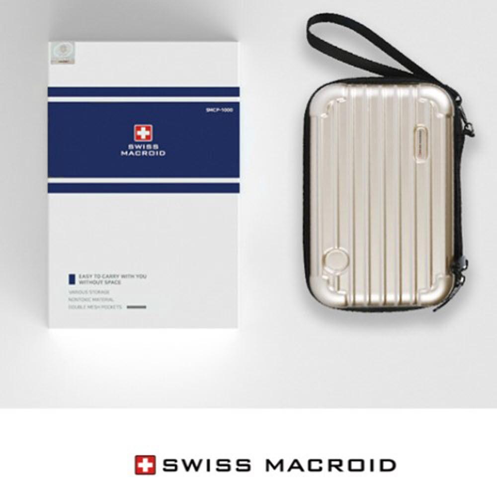 스위스밀리터리 프리미엄 캐리어 파우치 SMCP-1000 (블랙,골드)