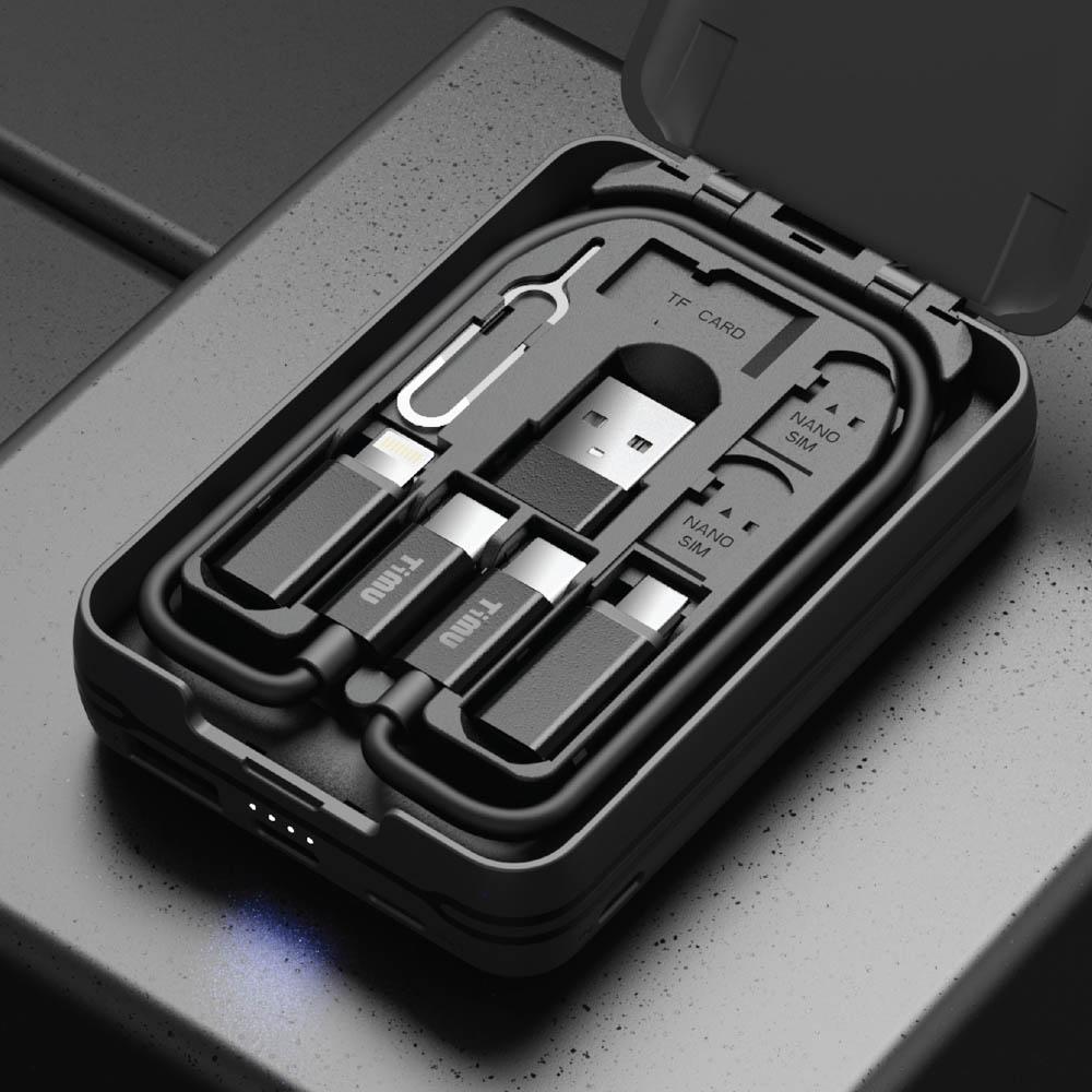 티뮤 멀티 충전 케이블 박스 7IN1 올인원키트 POWER BANK TA-P1