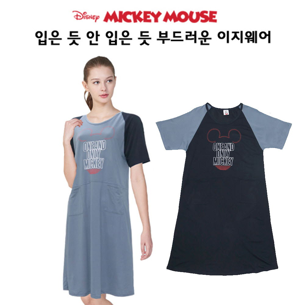 디즈니 여 미키 라글랑 원피스 M408