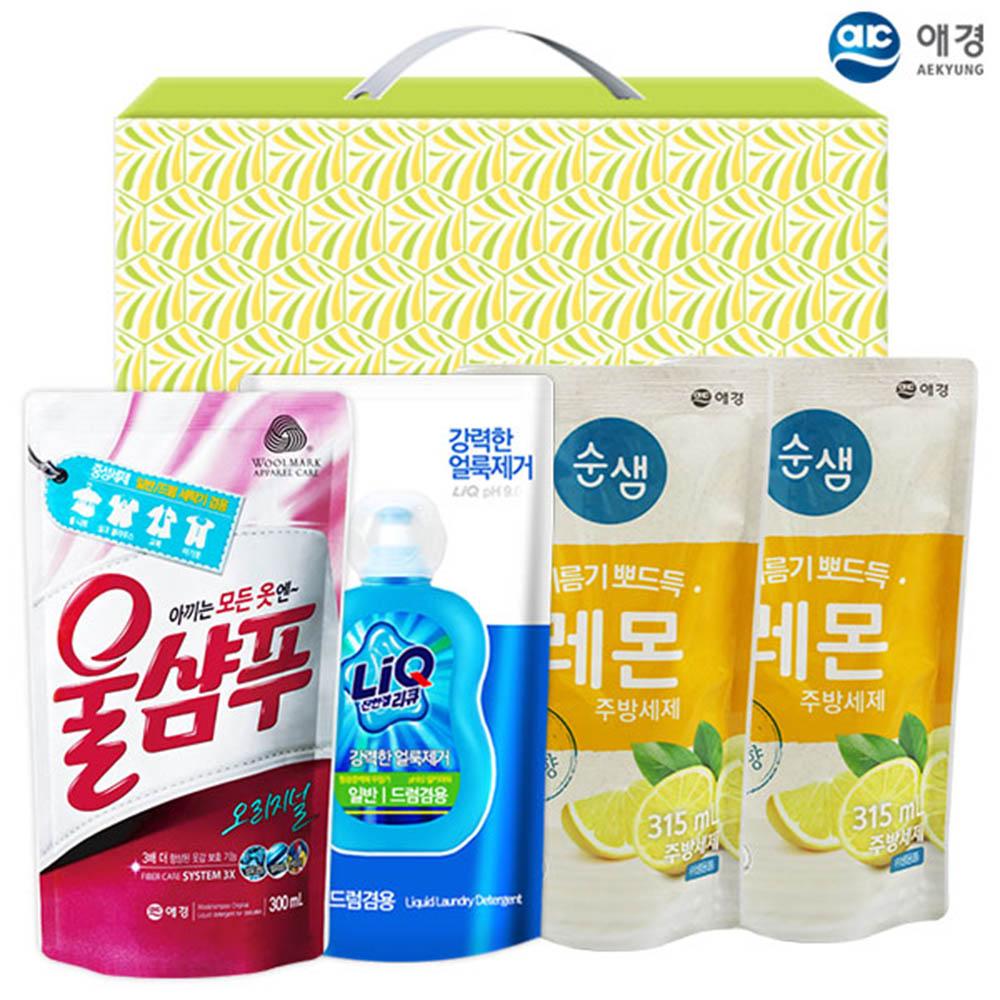 애경 울샴푸 리큐 순샘레몬315리필2P(4종)