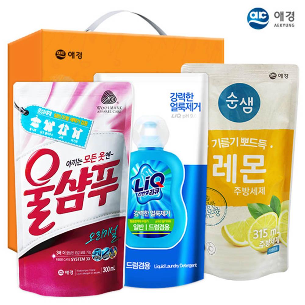 애경 울샴푸 리큐 순샘레몬315리필(3종)