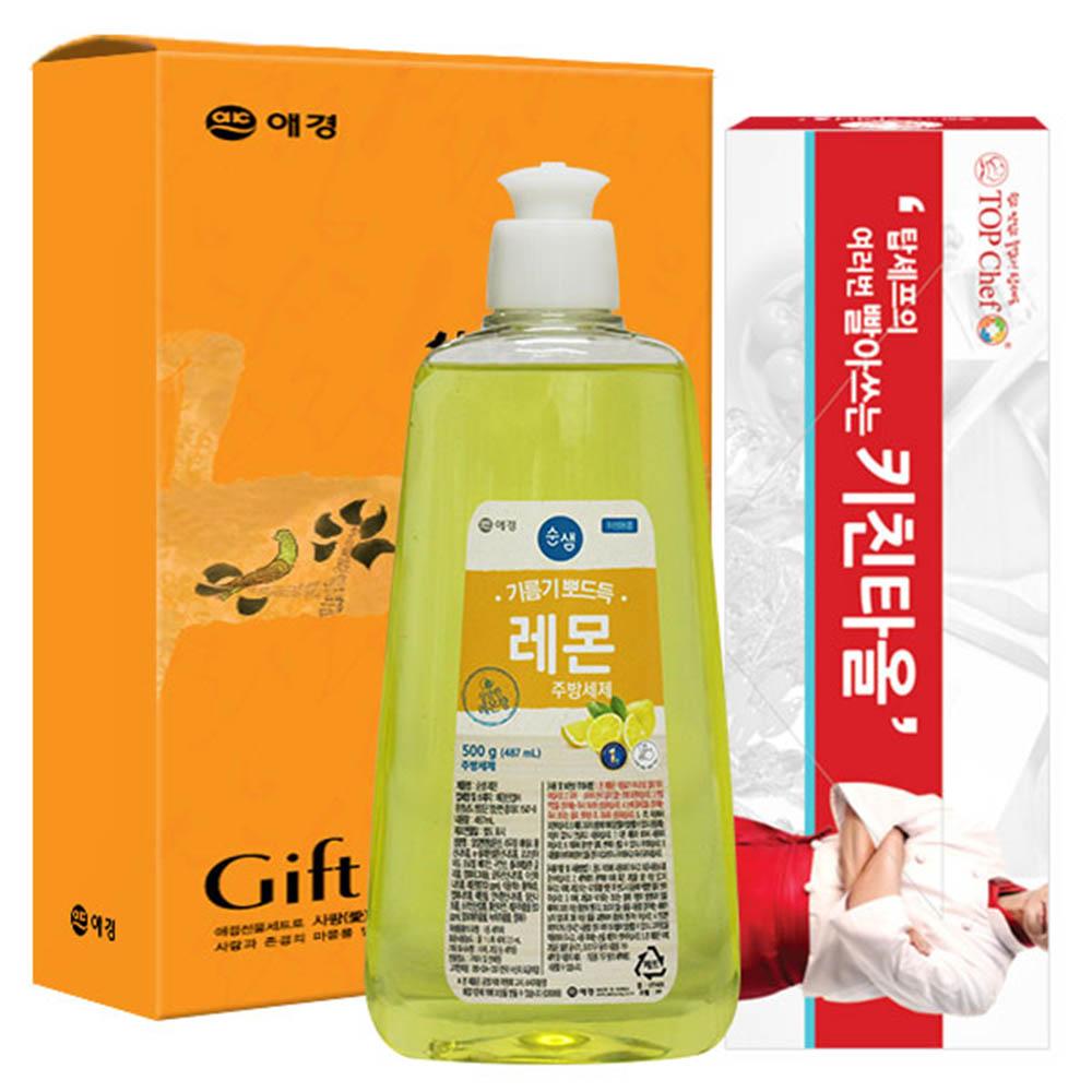 애경 순샘레몬500용기 빨아쓰는키친타올(2종)
