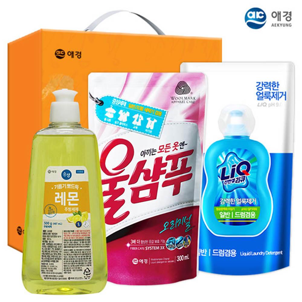 애경 순샘레몬500용기 울샴푸 리큐(3종)