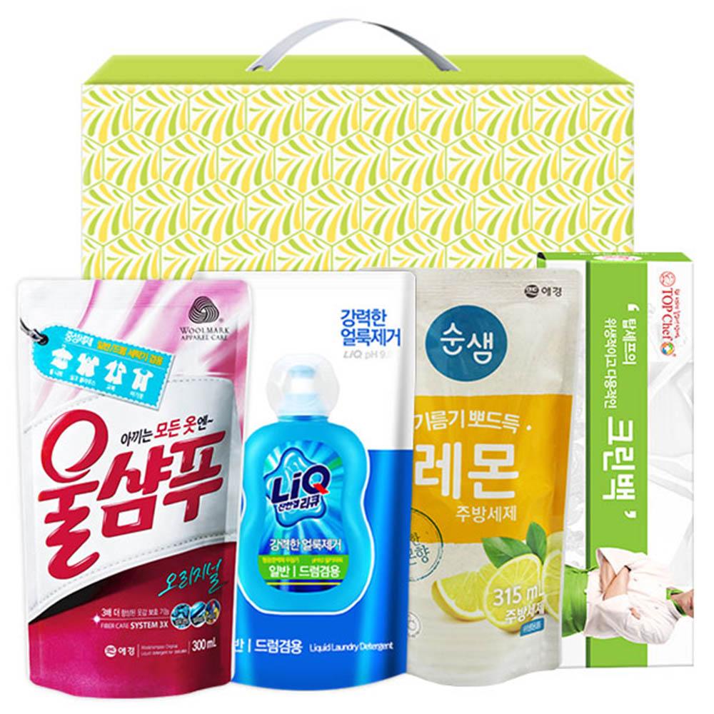 애경 울샴푸 리큐 순샘레몬315리필 크린백(4종)
