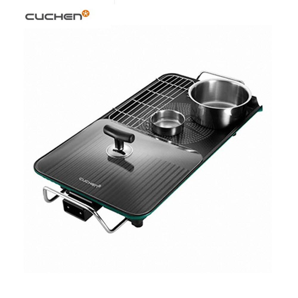 쿠첸 와이드 전기그릴 (CHG-G1610CW)/분리형/자동온도조절/기름유도장치/높이조절가능