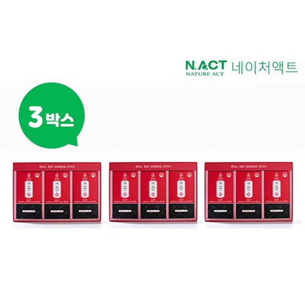 [네이처액트]아르카힐 리얼 홍삼농축액 스틱 12ml*30포 3box