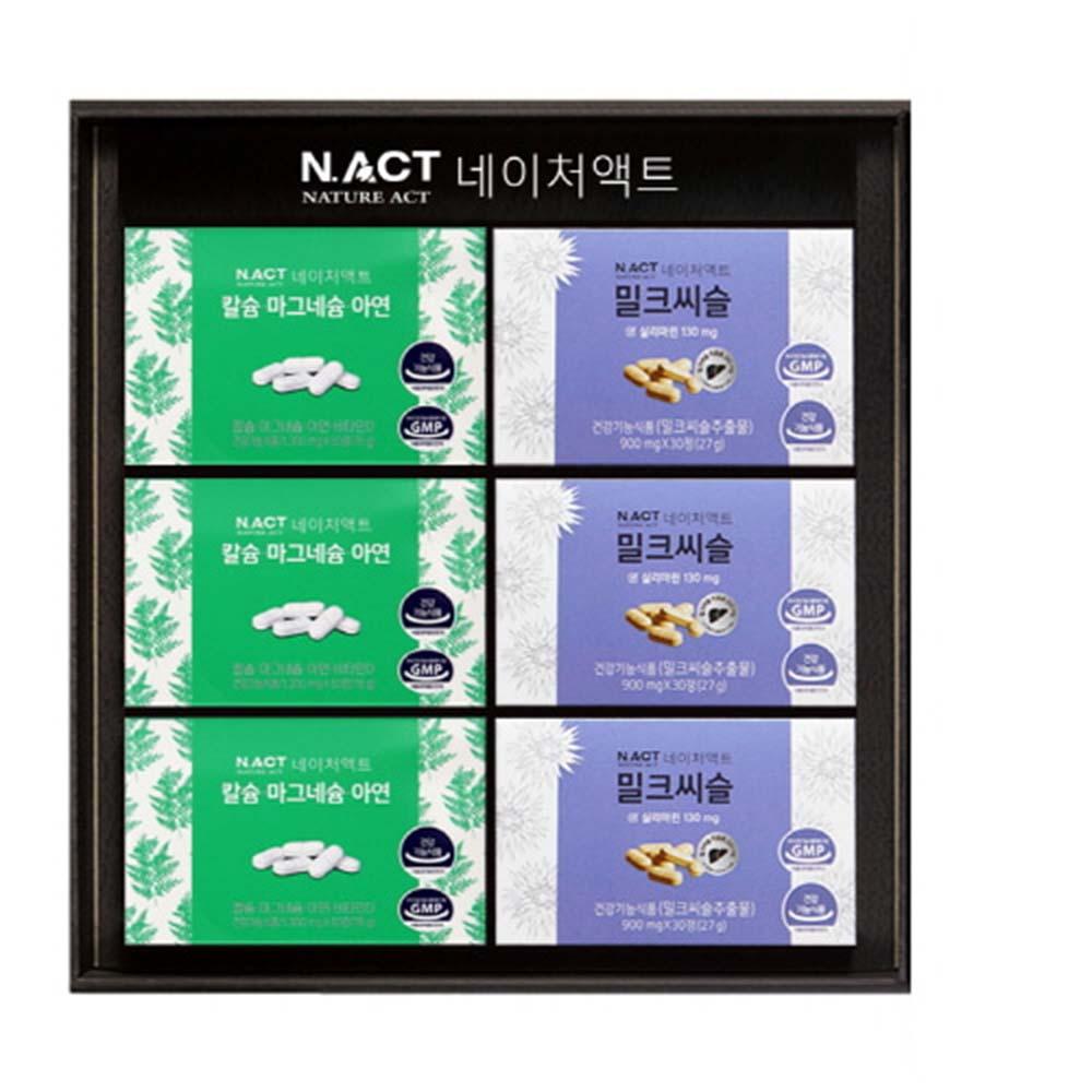 [네이처액트]칼마연3개+밀크씨슬3개