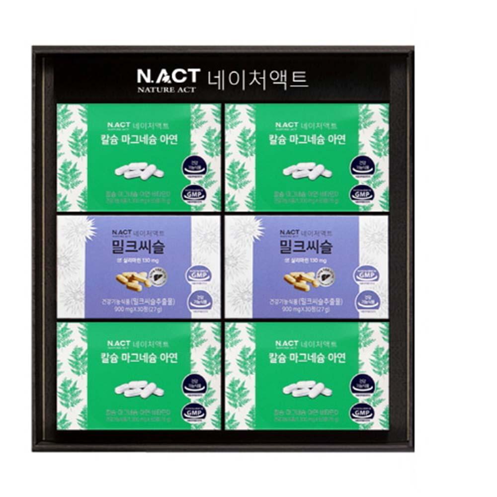 [네이처액트]칼마연4개+밀크씨슬2개