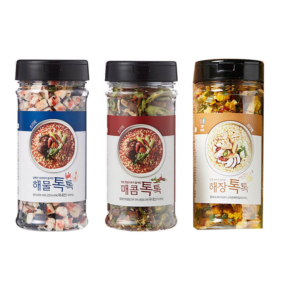 맛침표 톡톡 3종 (매콤+해물+해장)