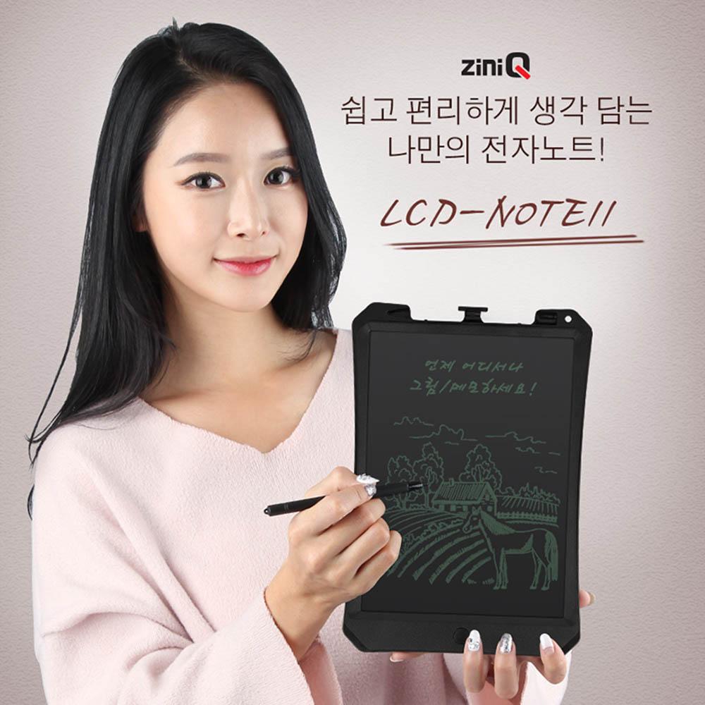 지니큐 전자노트 LCD-NOTE11 (굵은글씨) 블랙