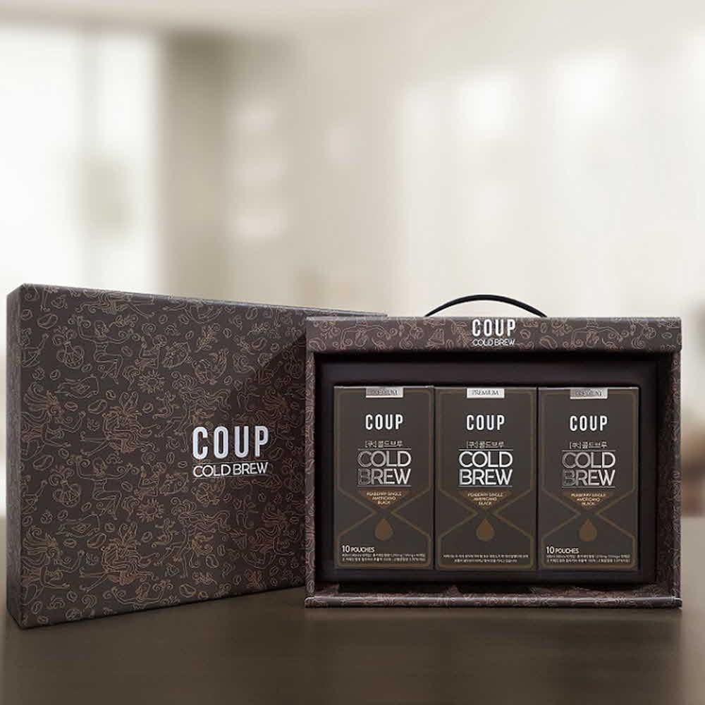 [홈볼트]더치커피 콜드브루 커피 선물세트(40ml*10ea*3)