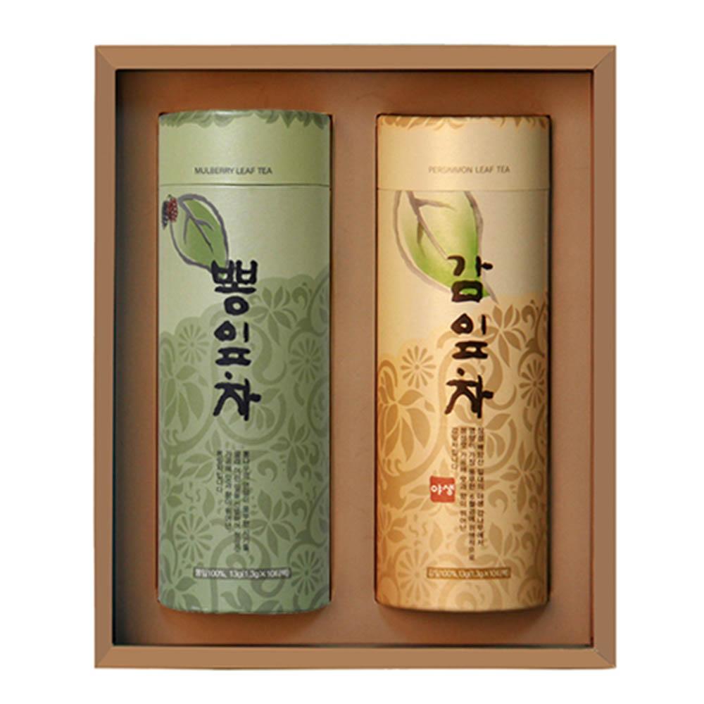 [M22-215]대한민국 식품명인 제54호_서민수 차(茶)명인 감잎, 뽕잎차 선물세트