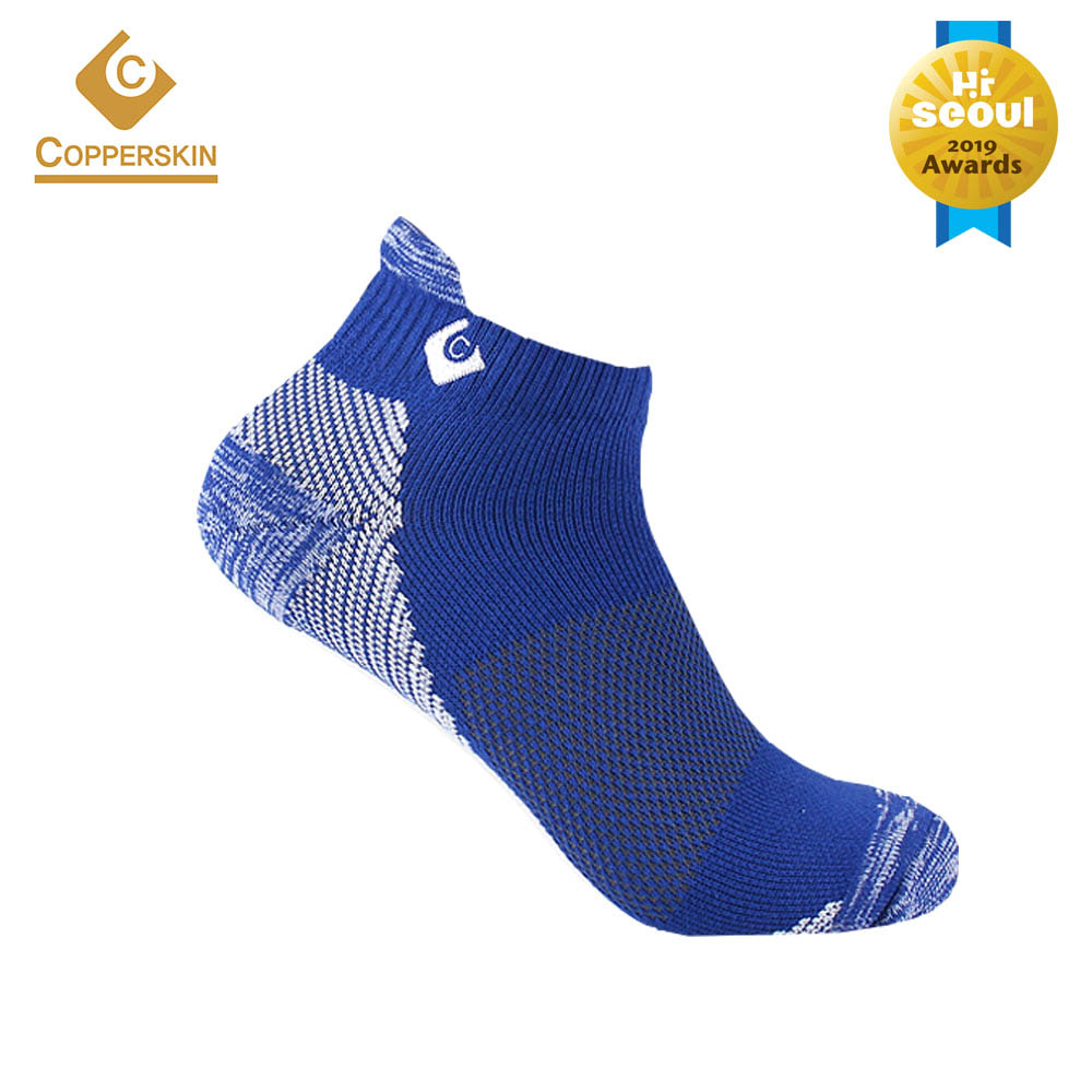 카퍼스킨 남성 골프양말 스니커즈 하이백 양말-BLUE