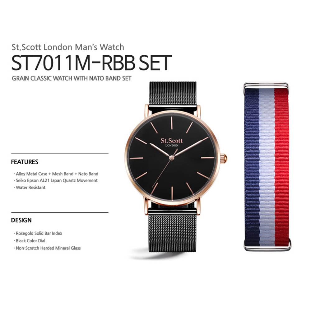 세인트스코트 시계 ST7011M RBB SET