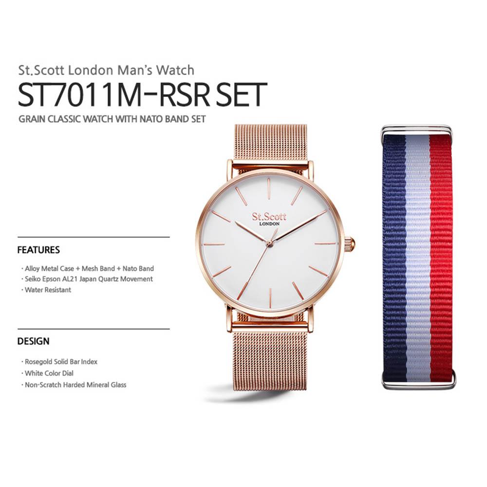 세인트스코트 시계 ST7011M RSR SET