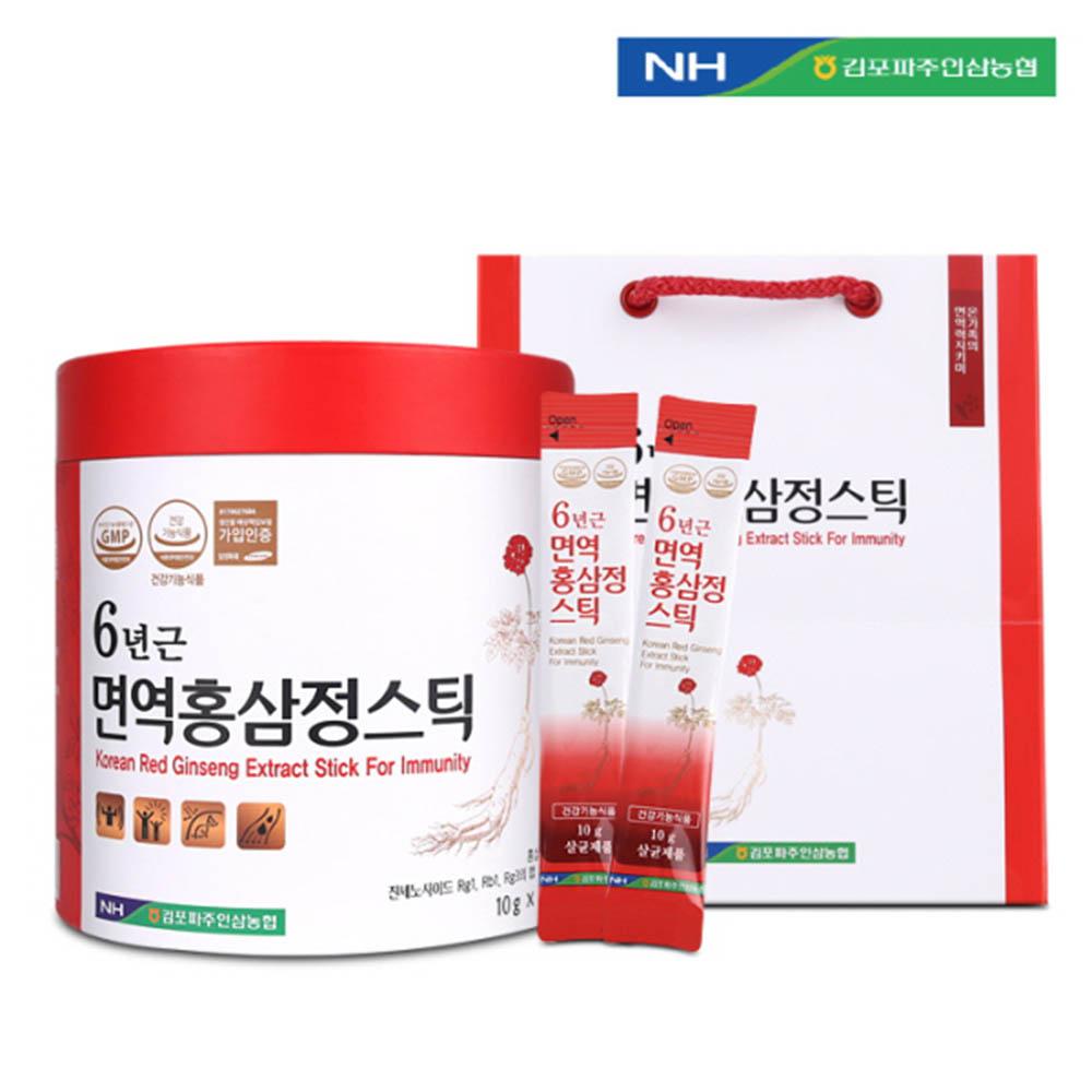 김포파주인삼농협 6년근 면역홍삼정스틱 10g x 100포