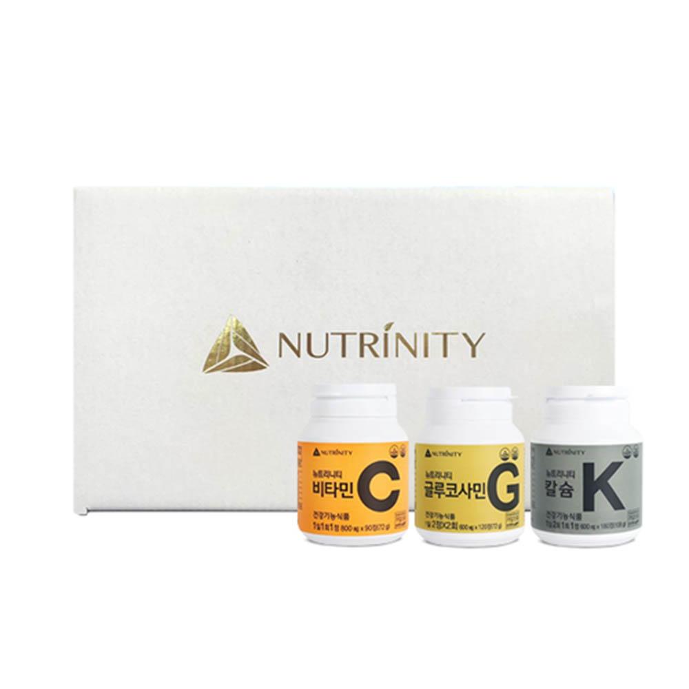 [뉴트리니티] 비타민C + 글루코사민 + 칼슘 (90일분 + 30일분 + 90일분)