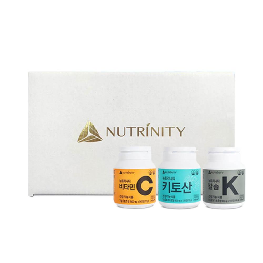 [뉴트리니티] 비타민C + 키토산 + 칼슘 (90일분 + 30일분 + 90일분)