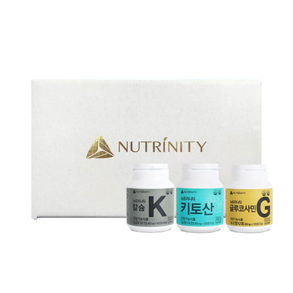[뉴트리니티] 키토산 +글루코사민 + 칼슘 (30일분 + 30일분 + 90일분)
