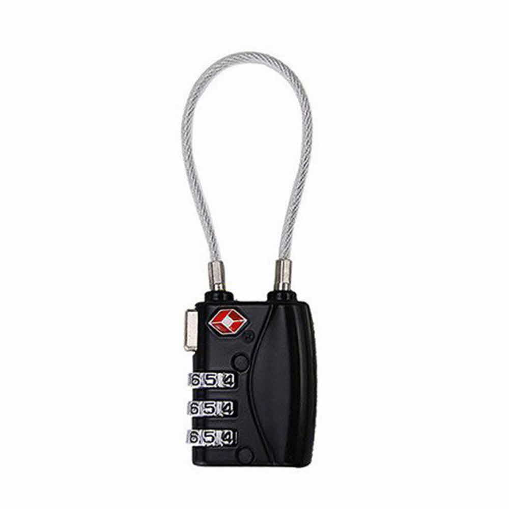 TSA 기능성 와이어 자물쇠(블랙)