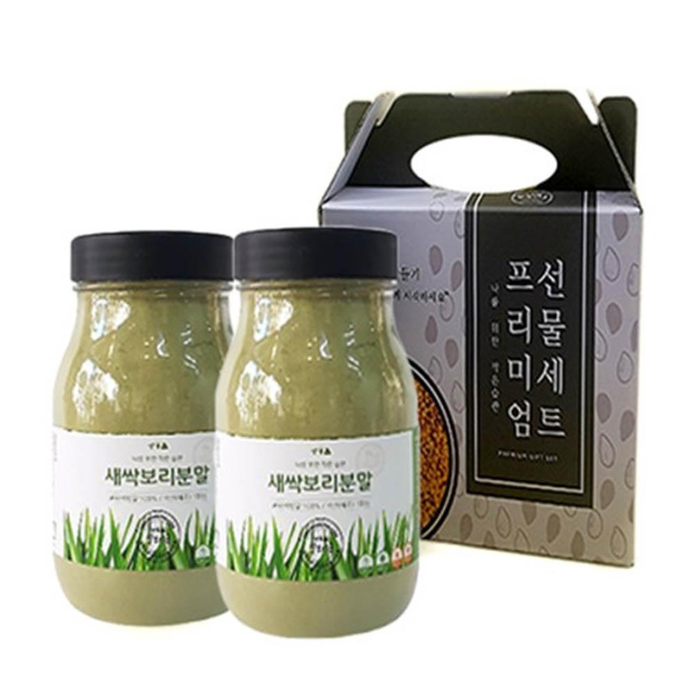 쌀보리콩 제주 새싹보리분말 선물세트 (150g*2)