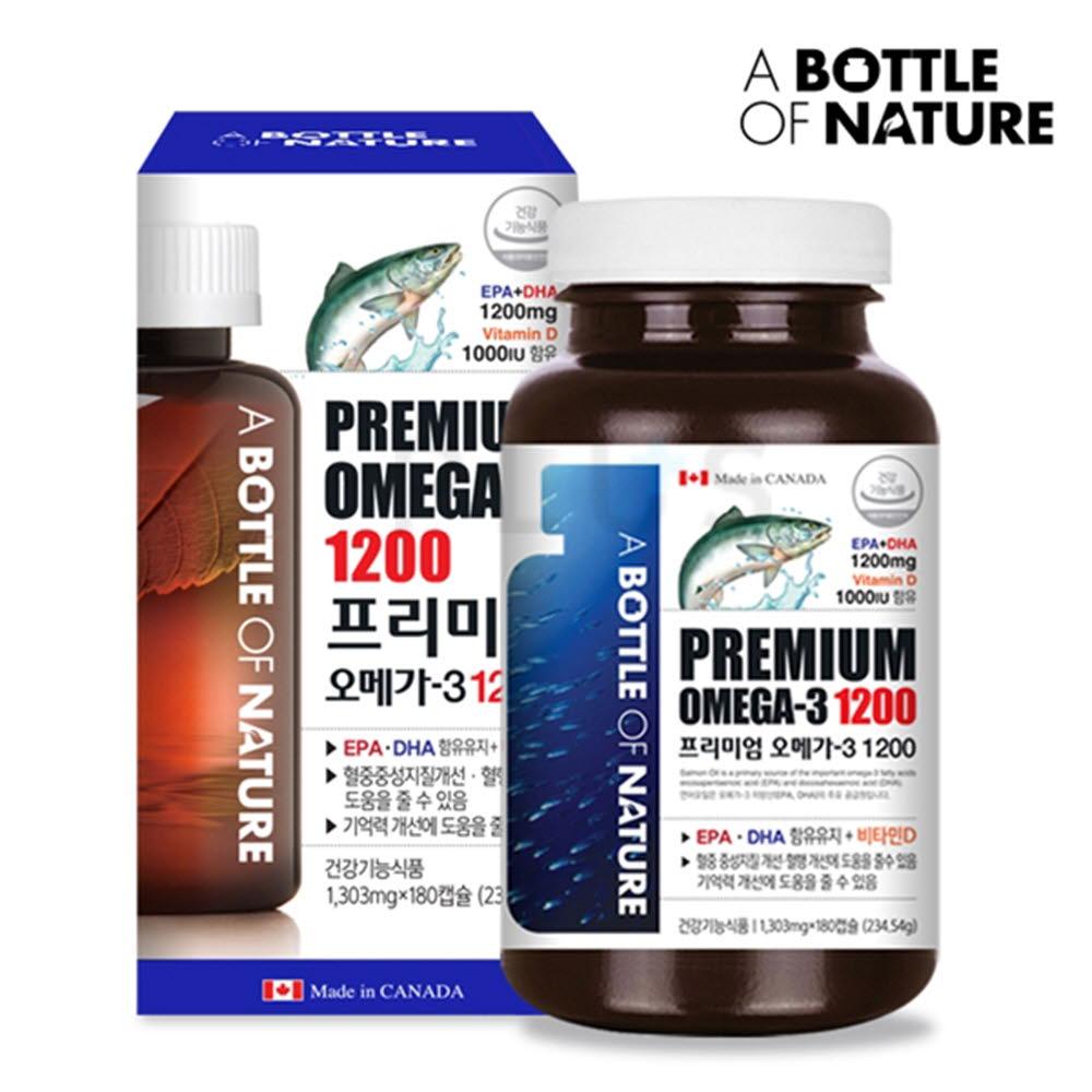 어바틀오브네이처 프리미엄 오메가-3 1200 비타민D 1,303mg x 180캡슐