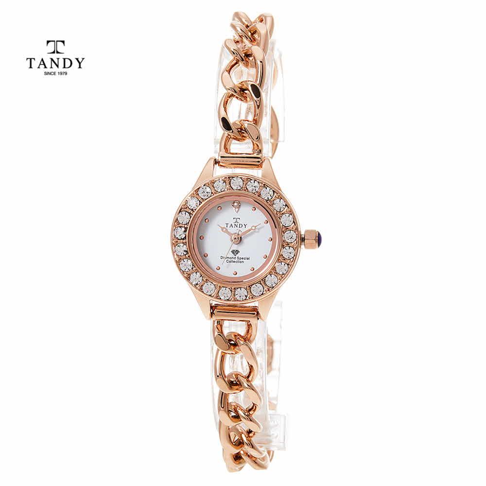 탠디 다이아몬드 셀프밴드 여성팔찌시계 DIA-4038-RG