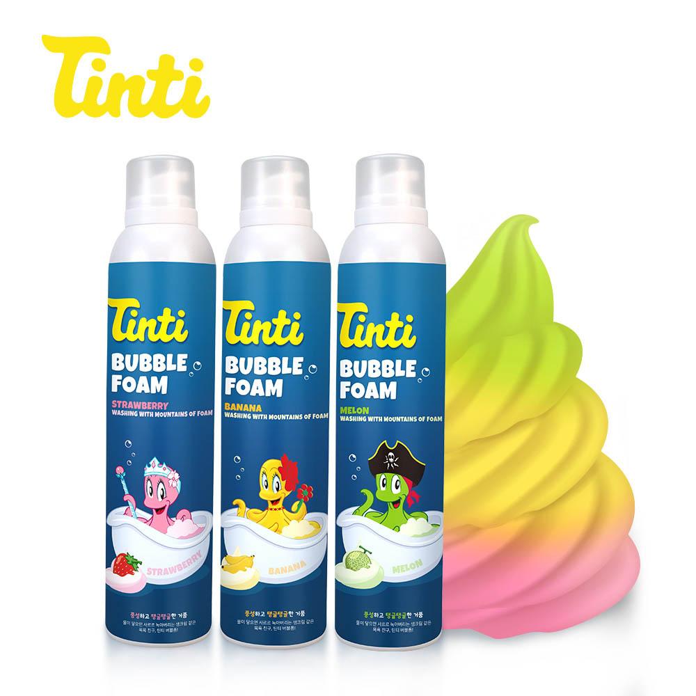 틴티 버블폼 3종세트 (딸기+바나나+멜론)