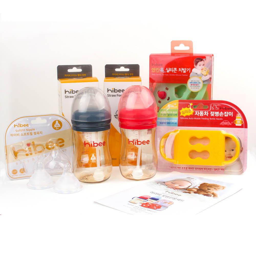 하이비 임신 출산 선물세트 (젖병2p+젖꼭지2p+실리콘손잡이+치발기2p)