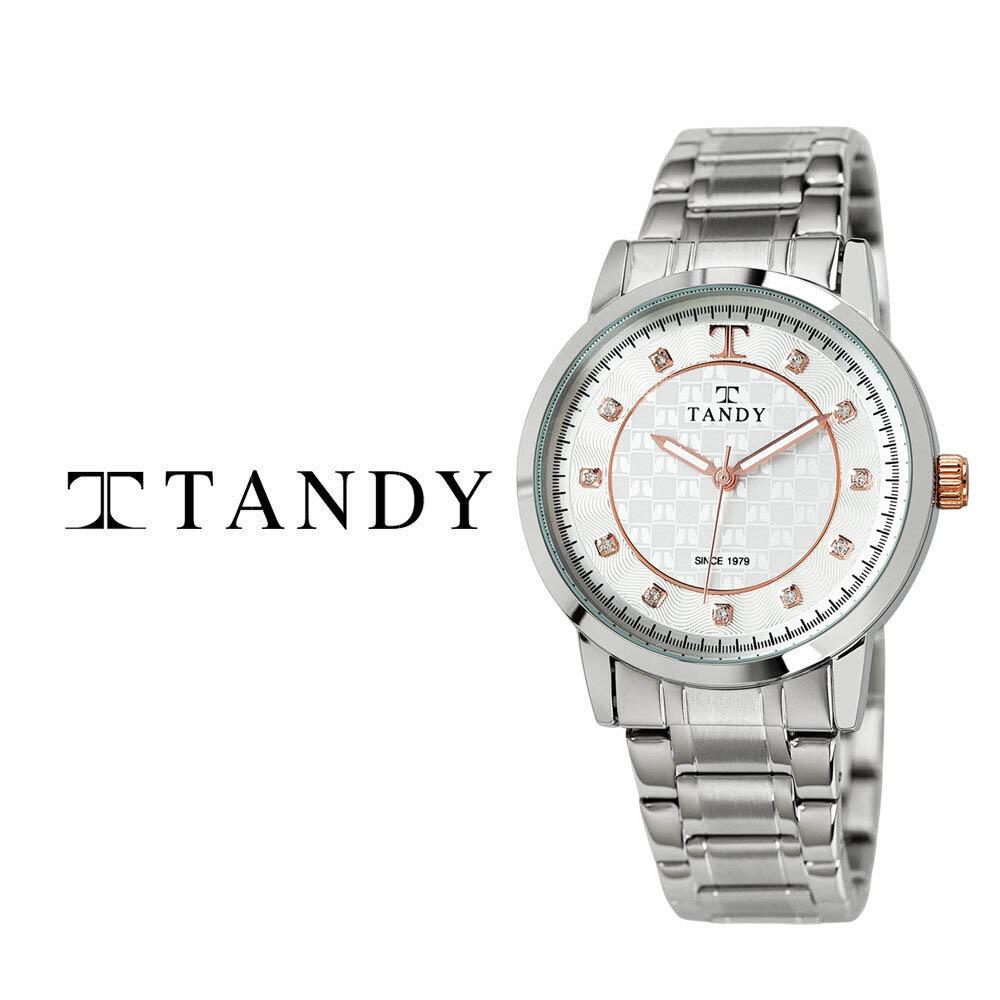 탠디 시그니쳐 럭셔리 커플 메탈 손목시계(스와로브스키 식입) T-3914 로즈골드 남자