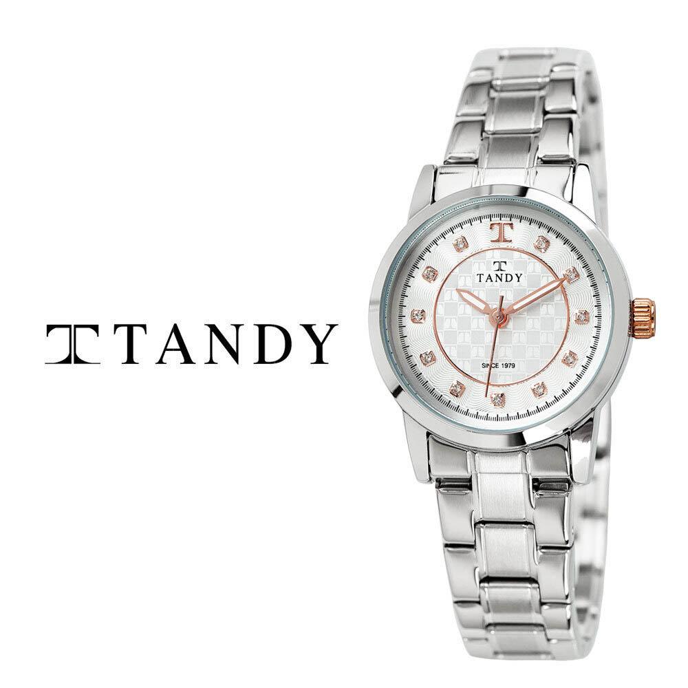 탠디 시그니쳐 럭셔리 커플 메탈 손목시계(스와로브스키 식입) T-3914 로즈골드 여자
