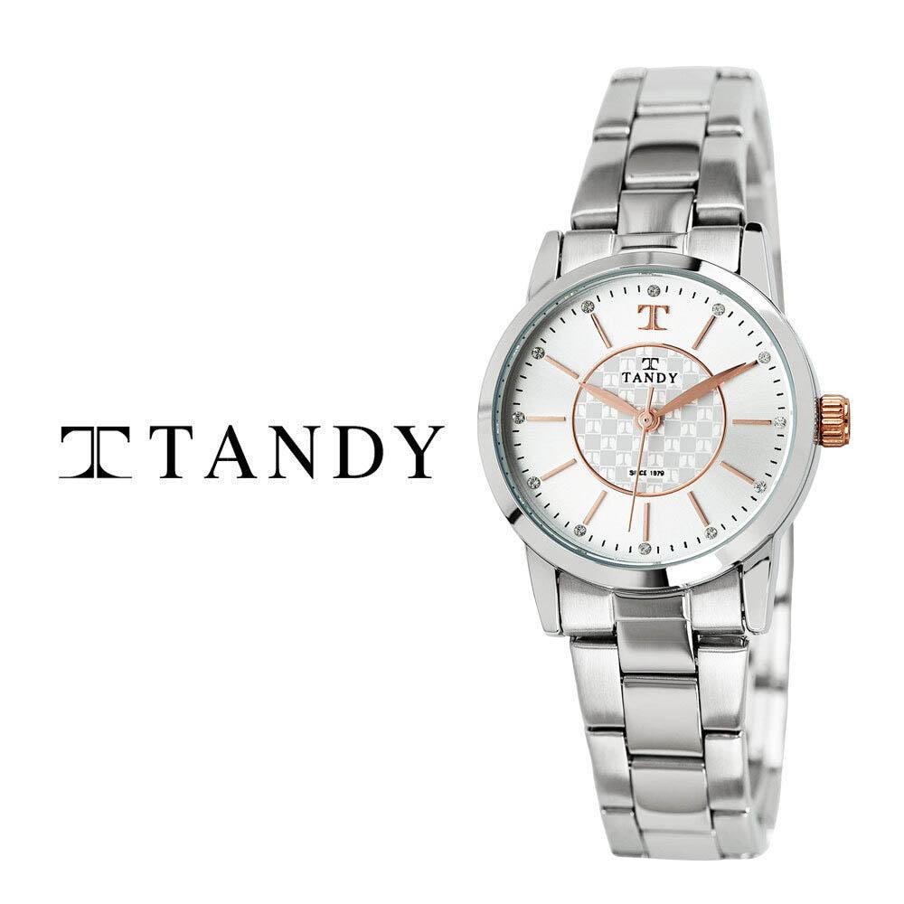 탠디 시그니쳐 럭셔리 커플 메탈 손목시계(스와로브스키 식입) T-3915 로즈골드 여자
