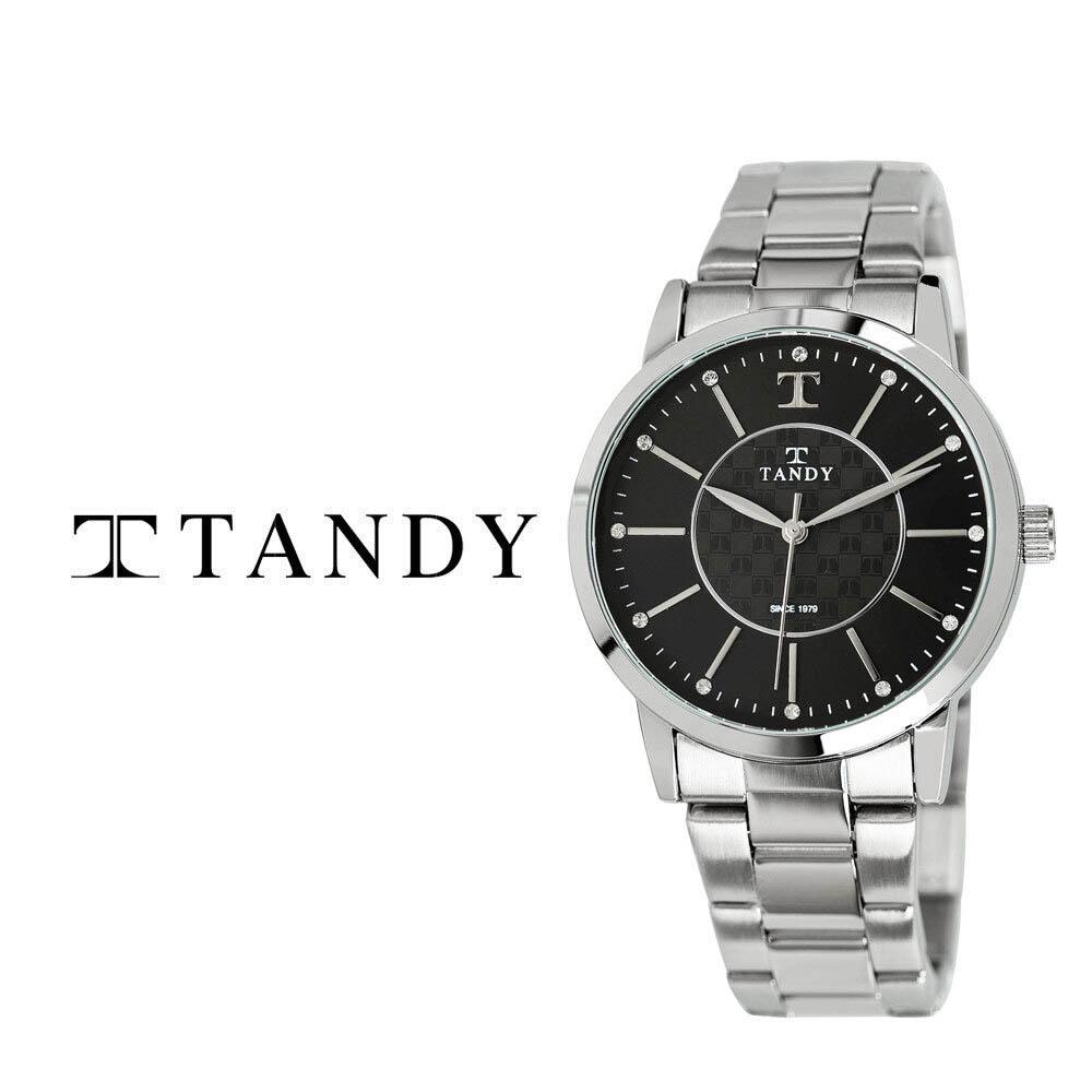 탠디 시그니쳐 럭셔리 커플 메탈 손목시계(스와로브스키 식입) T-3915 블랙 남자