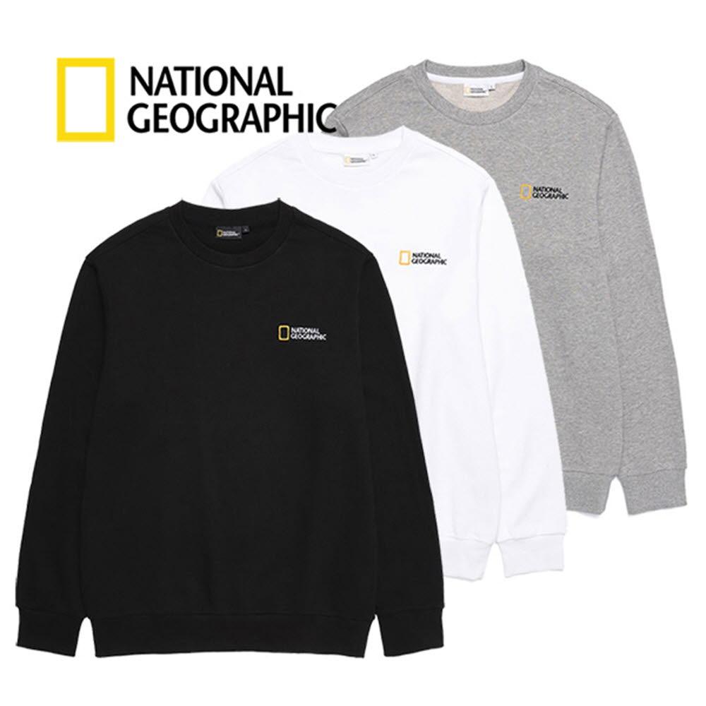 내셔널지오그래픽 (B)베이직 맨투맨 티셔츠 B203USW020